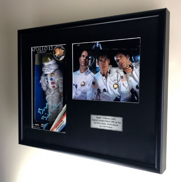 Movie Signed Memorabilia - Apollo 13 Film Toy Tom Hanks / Kevin Paxton / Framed